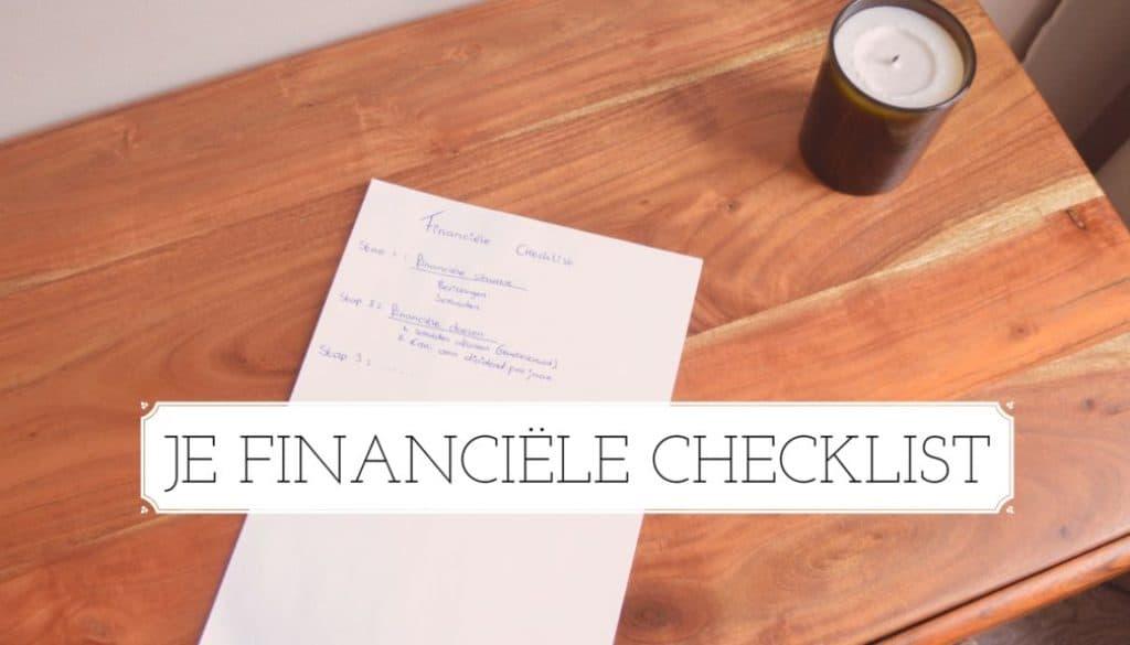 financiële checklist - FinanceMonkey